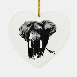 Walking Elephant Ceramic Ornament