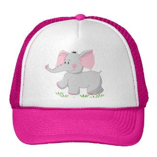 Walking elephant for trucker hat