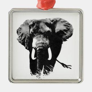 Walking Elephant Metal Ornament