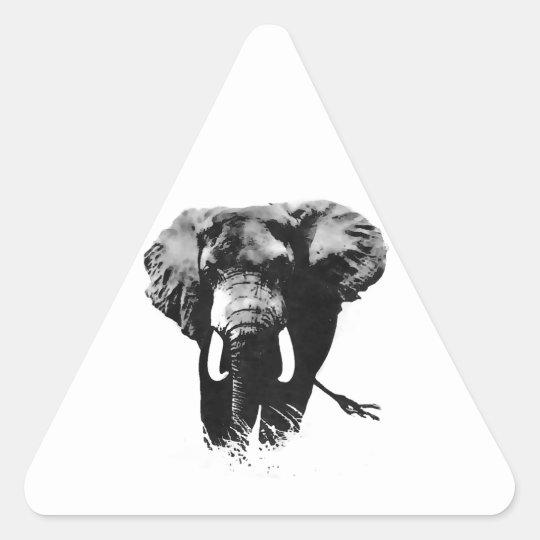 Walking Elephant Triangle Sticker