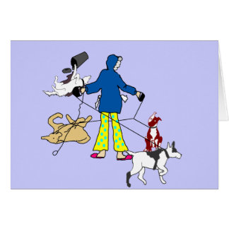 Walking Flyball Dogs Cards