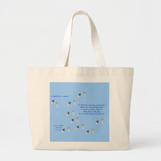 Walking for a cause large tote bag