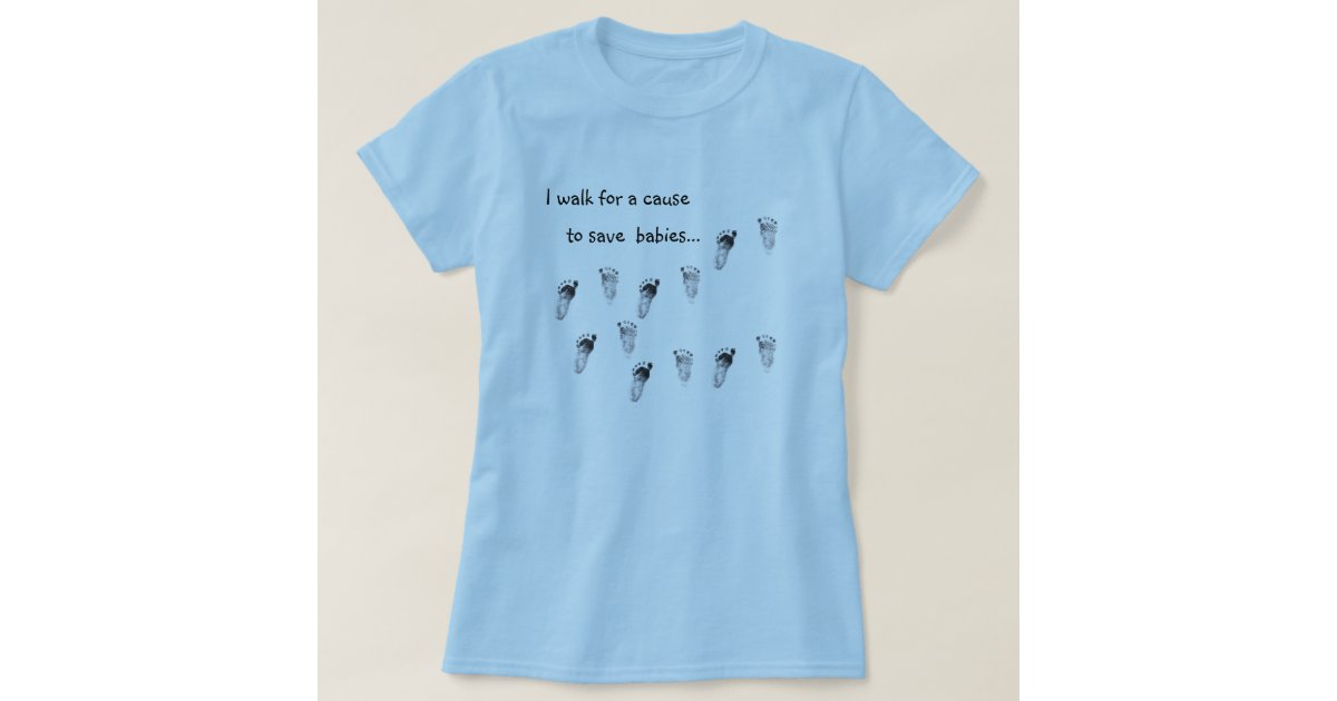 walking for a cause t shirt zazzle