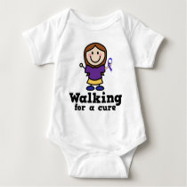 Walking For A Cure Bladder Cancer Yellow Ribbon Baby Bodysuit