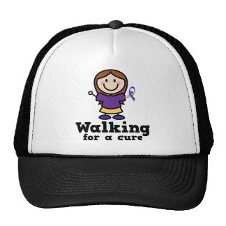 Walking For A Cure Bladder Cancer Yellow Ribbon Trucker Hat