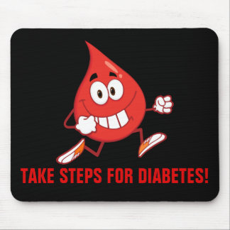 Walking for Diabetes Awareness Mouse Pad