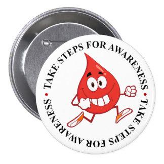 Walking for Diabetes Awareness Pinback Button