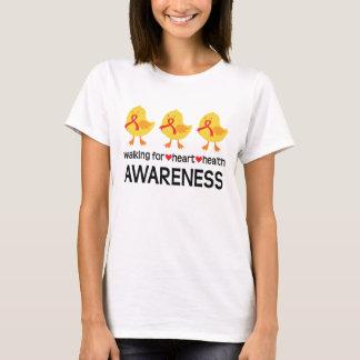 Walking For Heart Health Awareness Womens T-shirt