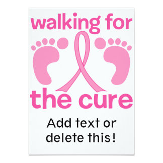 Walking For The Cure Card