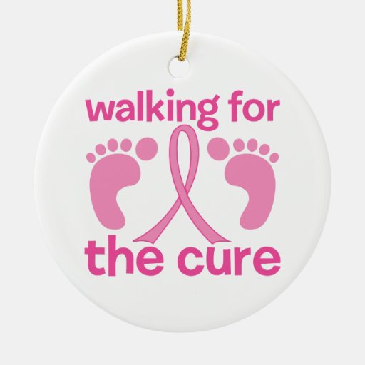 Walking For The Cure Christmas Ornaments