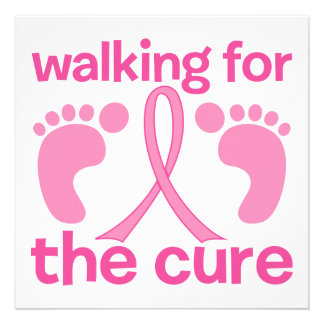 Walking For The Cure Custom Invites