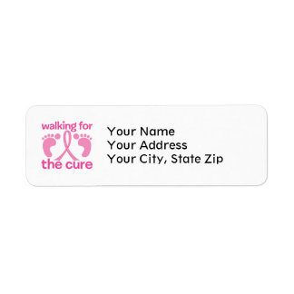 Walking For The Cure Label