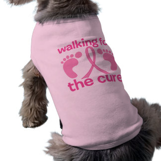Walking For The Cure Pet Tshirt