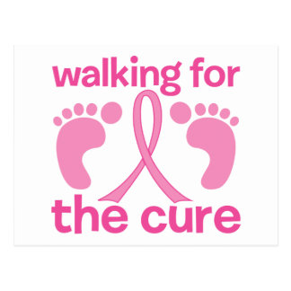 Walking For The Cure Post Card