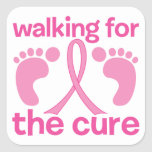 Walking For The Cure Square Sticker