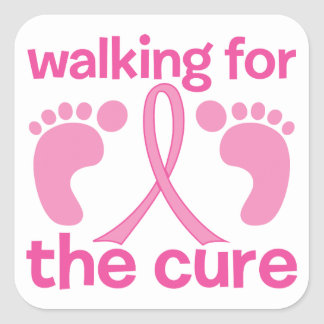 Walking For The Cure Square Stickers