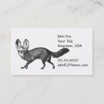 Walking Fox Animal Business Card