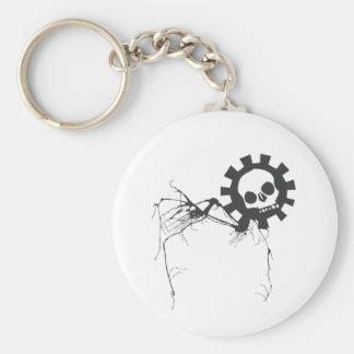 Walking Gear Skull Keychain