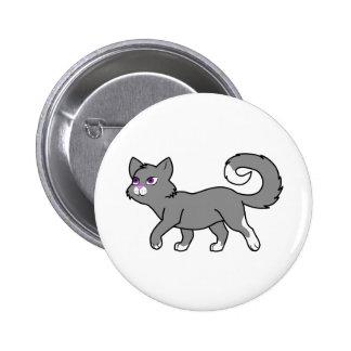 Walking Gray Cat 2 Inch Round Button