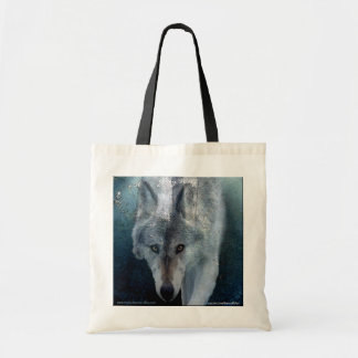 Walking Gray Wolf Carry-Bag Collection Tote Bag