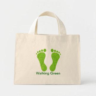 Walking Green footprins Bag