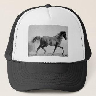 Walking Horse Black & White Trucker Hat