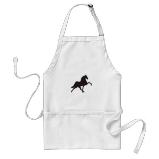 Walking Horse Silhouette Adult Apron