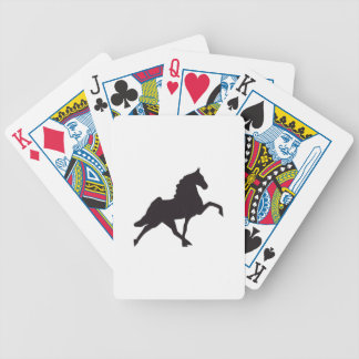 Walking Horse Silhouette Bicycle Playing Cards