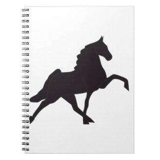 Walking Horse Silhouette Spiral Notebook