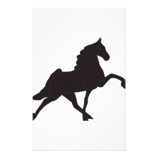 Walking Horse Silhouette Stationery