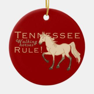 Walking Horses Rule Ceramic Ornament