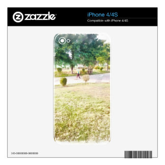 Walking in a park decals for iPhone 4S