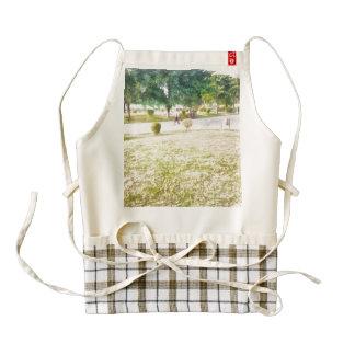 Walking in a park zazzle HEART apron