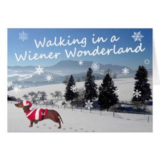 Walking in a Wiener Wonderland Greeting Card