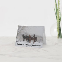 Walking In A Winter Wonderland Holiday Card