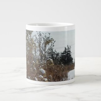 Walking in Fresh Snow Giant Coffee Mug
