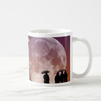 Walking in front of the moon Digital Art Coffee Mug