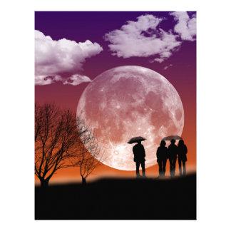 Walking in front of the moon Digital Art Letterhead