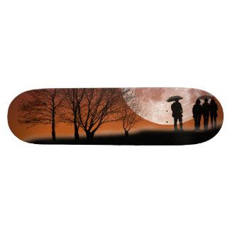 Walking in front of the moon Digital Art Skateboar Skateboard Deck