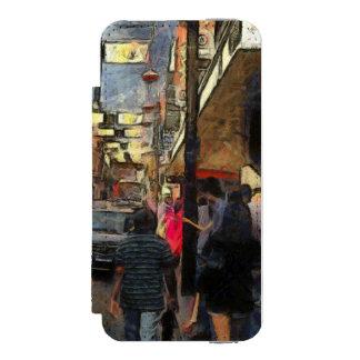 Walking in Melbourne Wallet Case For iPhone SE/5/5s