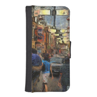 Walking in Melbourne Wallet Phone Case For iPhone SE/5/5s