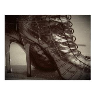 Walking in my shoes postcard