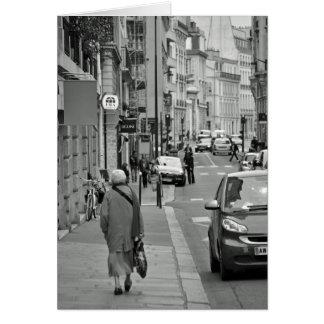 Walking in Paris Card