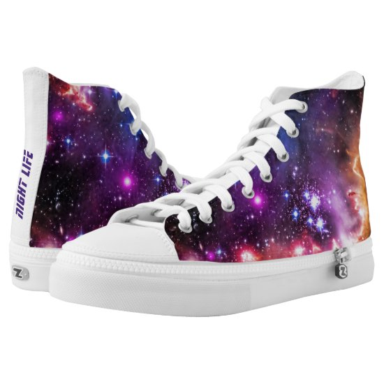 Walking in Starlight for Feeling Cool High-Top Sneakers