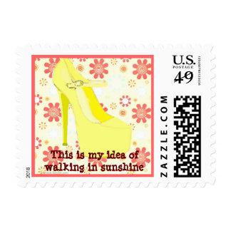 Walking in Sunshine Stiletto Postage