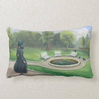 Walking in the Garden Fantasy Art Throw Pillow