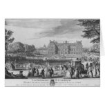 Walking in the Luxembourg gardens, 1729 Card