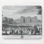 Walking in the Luxembourg gardens, 1729 Mouse Pad