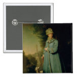 Walking in the Park at Tsarskoye Selo  1794 2 Inch Square Button