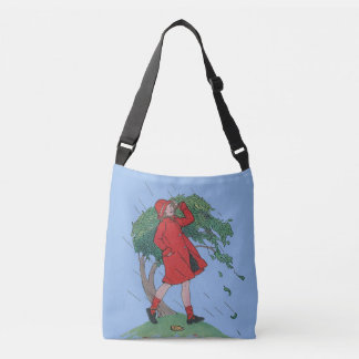 walking in the rain crossbody bag
